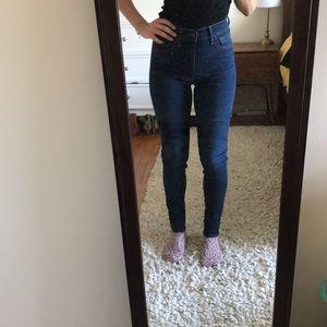 Levi's Mile High Super Skinny Blue Jeans 👖